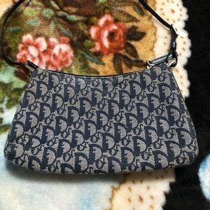 Dior Trotter saddle pochette in blue